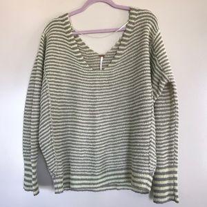 Free People | Bumble Green Stripe Sweater, M